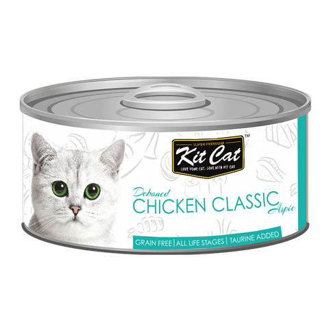 Kit Cat Deboned Chicken Classic Aspic Cat Canned Food (80g)