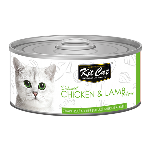 Kit Cat Deboned Chicken & Lamb Aspic Canned Food (80g)