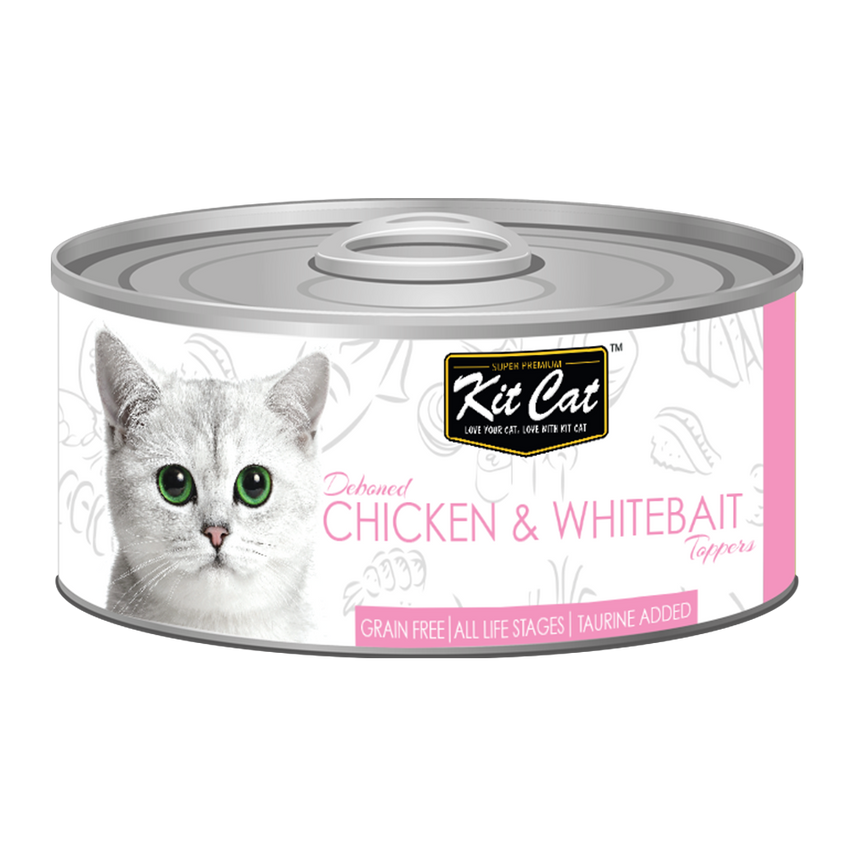 Kit Cat Deboned Chicken & Whitebait Toppers Canned Food (80g)