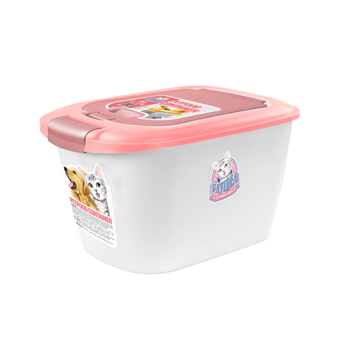 CatIdea Double Open Pet Food Container (Pink/Cream) - 3kg to 4.5kg