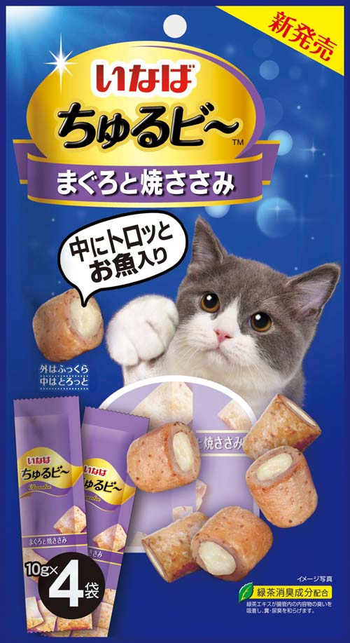 Ciao Churubee Grilled Chicken & Maguro Cat Treats - 10g x 4