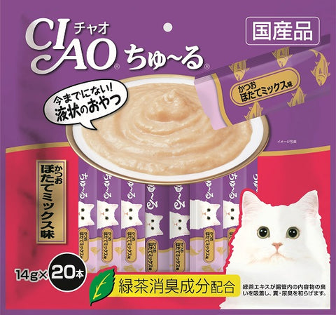 Ciao Churu 20p Tuna & Scallop Cat Treats - 14g x 20