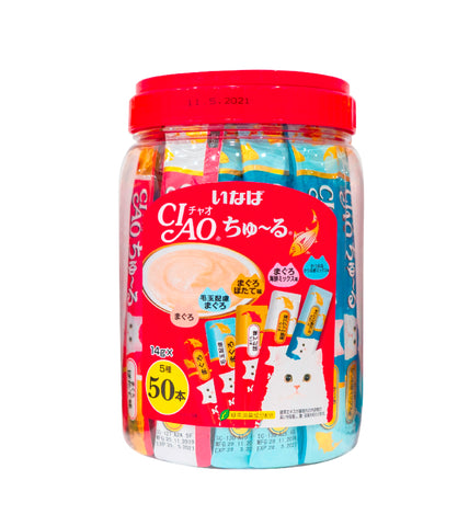 Ciao Churu 50p Tuna Mix Festive Pack Cat Treats - 14g x 50