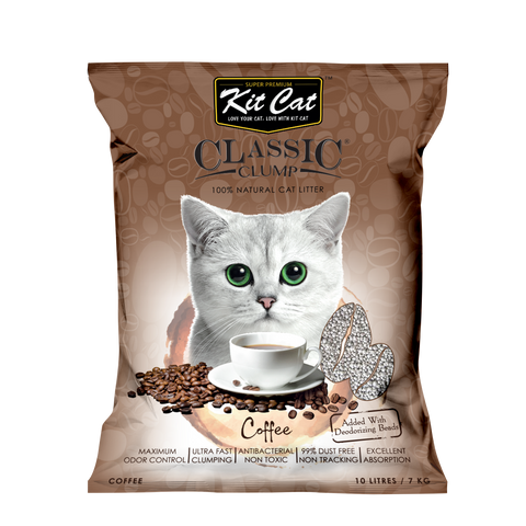 Kit Cat Classic Clump Cat Litter (10L/7kg) - Coffee