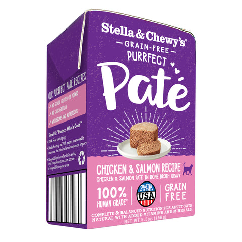 Stella & Chewy's - Purffect Pate Chicken & Salmon Medley Recipe Wet Cat Food (156g)