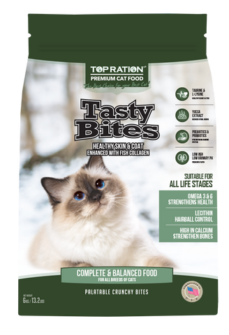 Top Ration Tasty Bites Cat Dry Food (3 sizes)