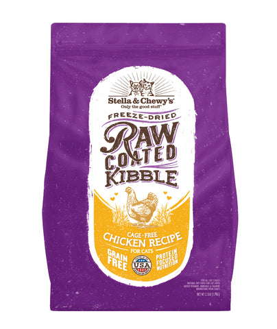 Stella & Chewy's - Raw Coated Kibble Cage-Free Chicken Recipe Dry Cat Food (2 sizes)