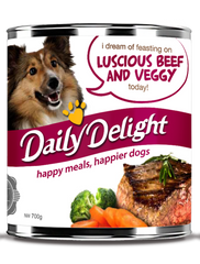 Daily Delight Luscious Beef and Veggy Canned Dog Food (2 sizes)