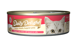 Daily Delight Skipjack Tuna White with Sasami in Jelly Canned Cat Food (80g)