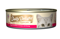 Daily Delight Skipjack Tuna White & Chicken with Shrimp Canned Cat Food (80g)