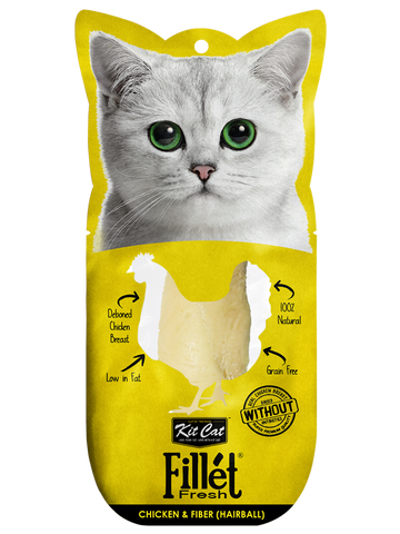 Kit Cat Fillet Fresh - Chicken & Fiber (Hairball) 30g