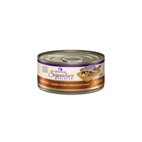 Wellness Core Signature Selects Cat Canned Food - Shredded Chicken & Beef (150g)