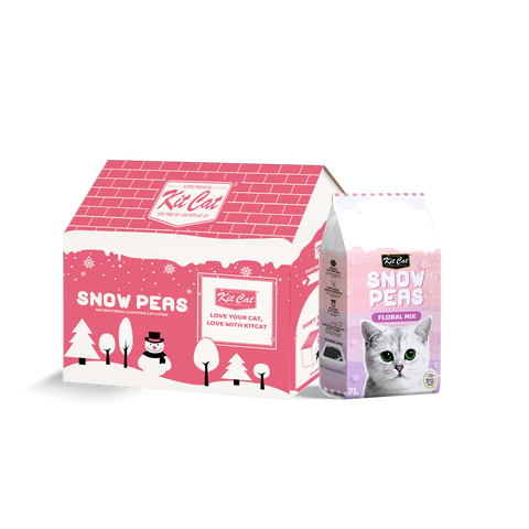 Kit Cat Snow Peas Cat Litter (7L) - Floral Mix