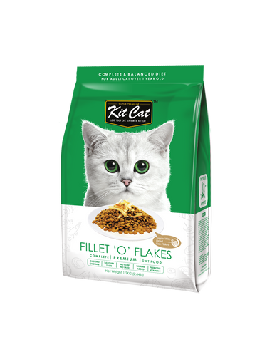 Kit Cat Premium Cat Food - Fillet 'O' Flakes (2 sizes)