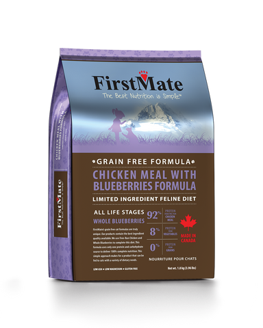 FirstMate Grain & Gluten Free, Free Run Chicken with Blueberries Cat Dry Food (1.8kg/4.54kg)