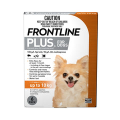 Frontline Plus for Small Dogs - 6 doses (up to 10kg)