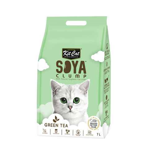 Kit Cat Soya Clump Cat Litter (7L) - Green Tea