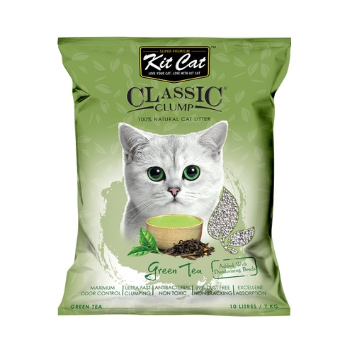 Kit Cat Classic Clump Cat Litter (10L/7kg) - Green Tea