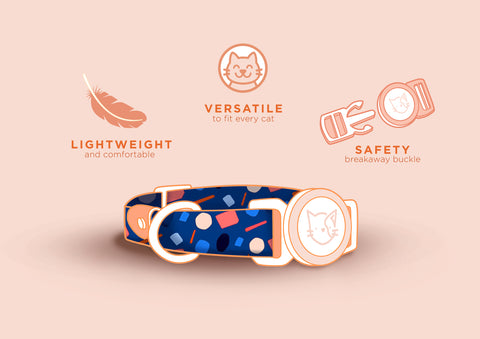 Gentle Purr Cat Collar - Playful Polly