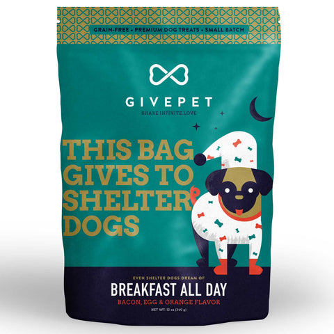 GivePet Dry Dog Treat - Breakfast All Day (340g)