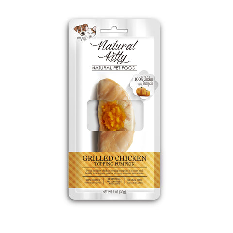 Natural Kitty Original Series - Grilled Chicken Fillet with Pumpkin Topping Treat (30g)