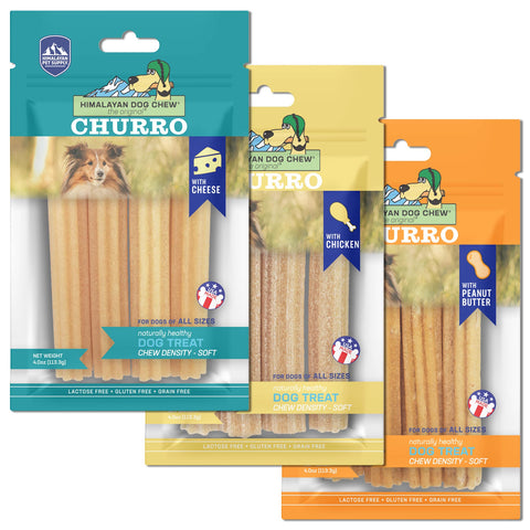 Himalayan Pet Supply - Churro Cheese Dog Chew (3 flavours)