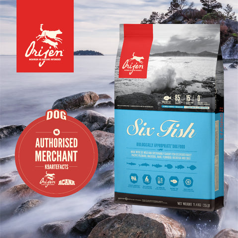ORIJEN Six Fish Dog - Dog Dry Food (2kg/6kg/11.4kg)