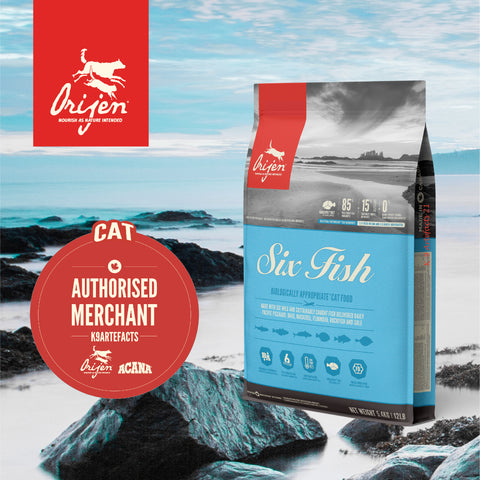ORIJEN Cat Six Fish - Dry Cat Food (3 sizes)