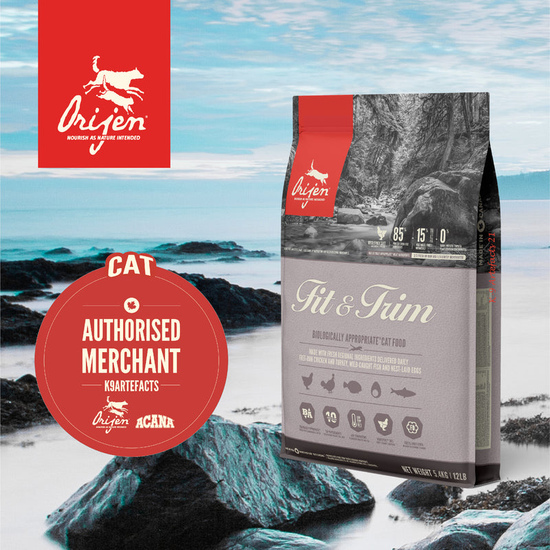 ORIJEN Fit & Trim Fish - Dry Cat Food (3 sizes)
