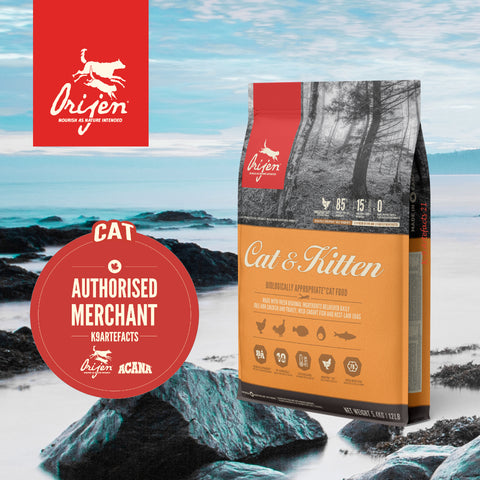 ORIJEN Cat & Kitten - Dry Cat Food (3 sizes)