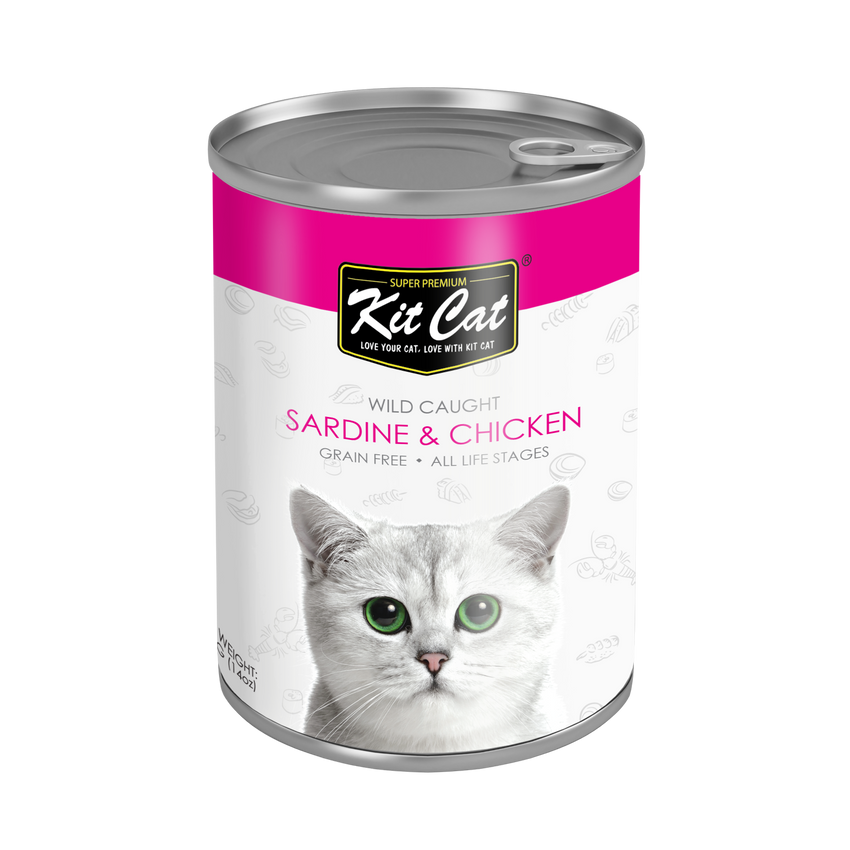 Kit Cat Pacific Sardine with Tender Chicken Canned Cat Food (400g)