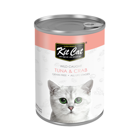 Kit Cat Atlantic Tuna with Crab Canned Cat Food (400g)