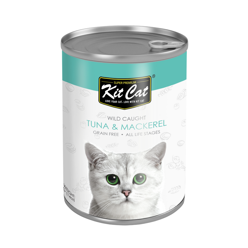 Kit Cat Atlantic Tuna with Mackerel Canned Cat Food (400g)