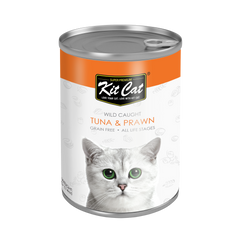 Kit Cat Atlantic Tuna with Prawn Canned Cat Food (400g)