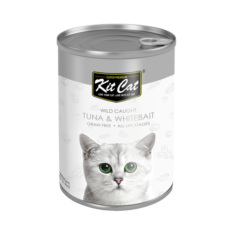Kit Cat Atlantic Tuna with Whitebait Canned Cat Food (400g)