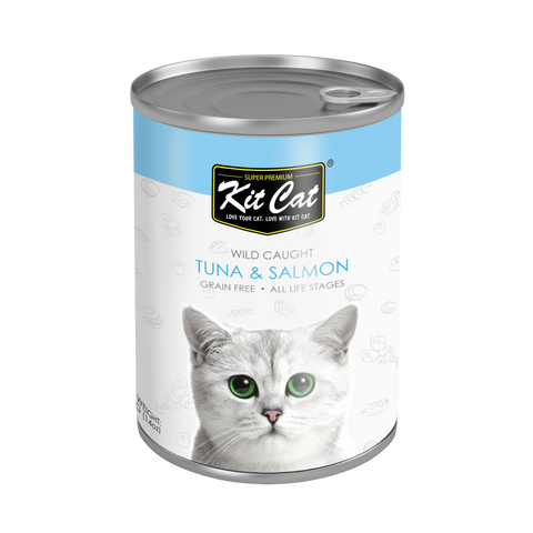 Kit Cat Atlantic Tuna with Wild Salmon Canned Cat Food (400g)