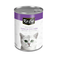 Kit Cat Atlantic Tuna with Tender Chicken Canned Cat Food (400g)