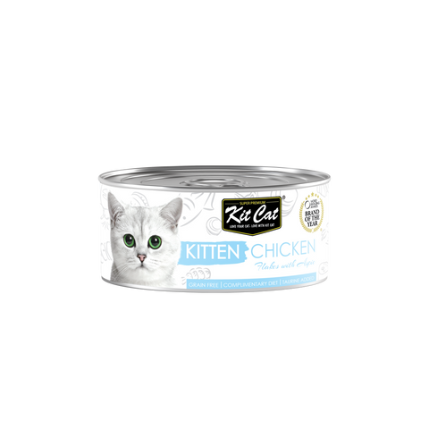 Kit Cat Kitten Chicken Flakes With Aspic Canned Food (80g)