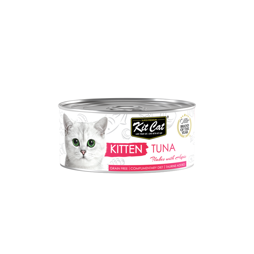 Kit Cat Kitten Tuna Flakes With Aspic Canned Food (80g)