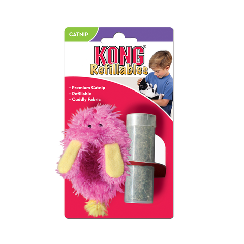 KONG Refillables Fuzzy Slipper With Catnip Toy
