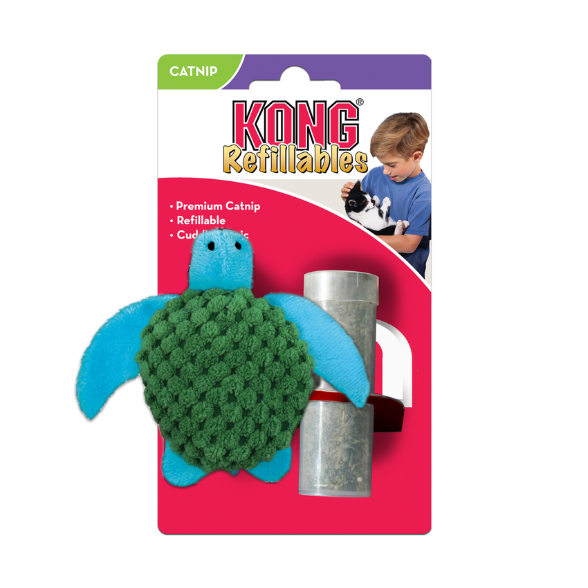 KONG Refillables Turtle With Catnip Toy