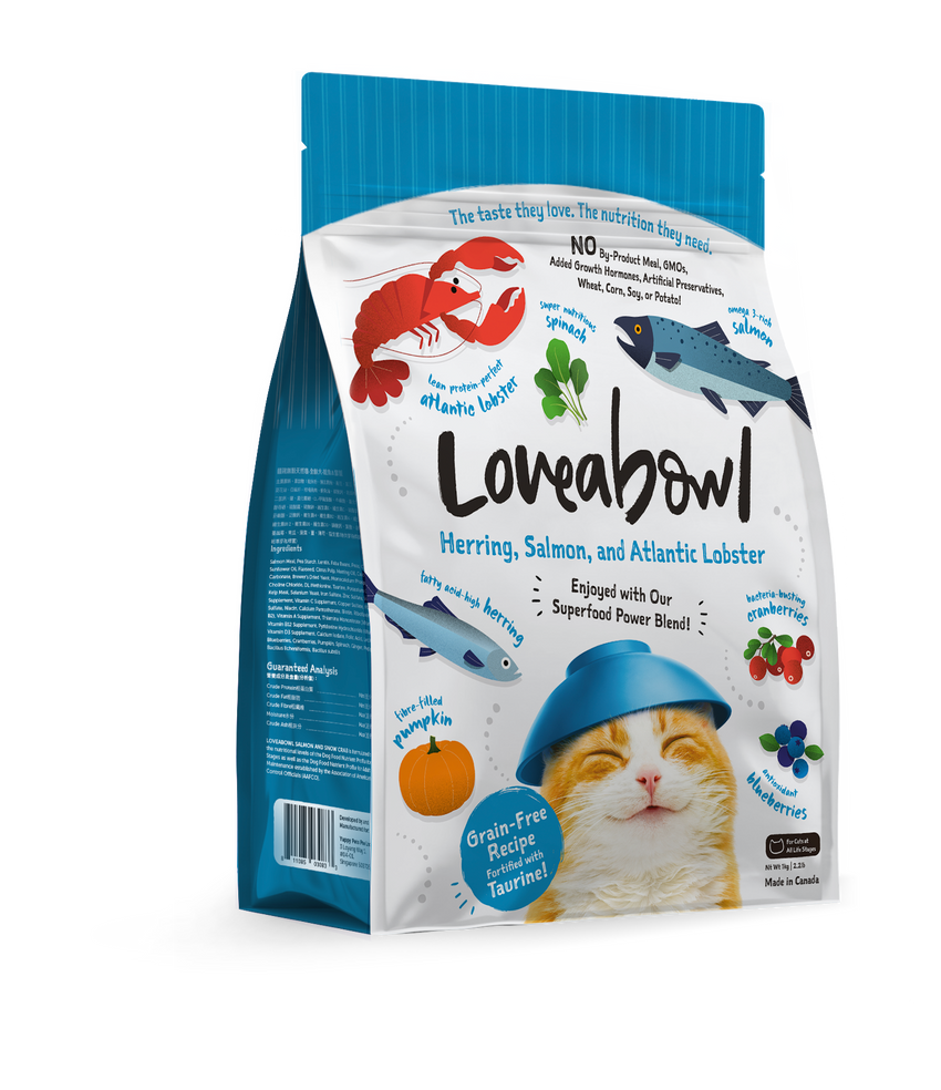 Loveabowl Herring, Salmon and Atlantic Lobster Dry Cat Food (3 sizes)