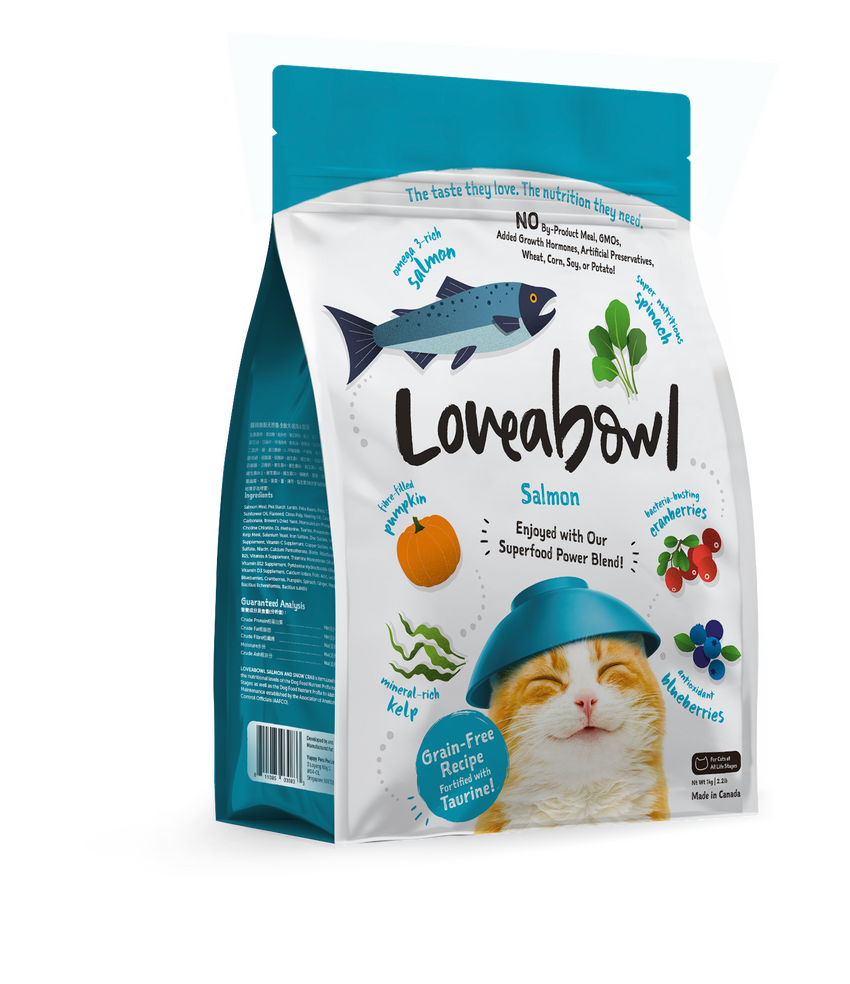Loveabowl Salmon Dry Cat Food (3 sizes)