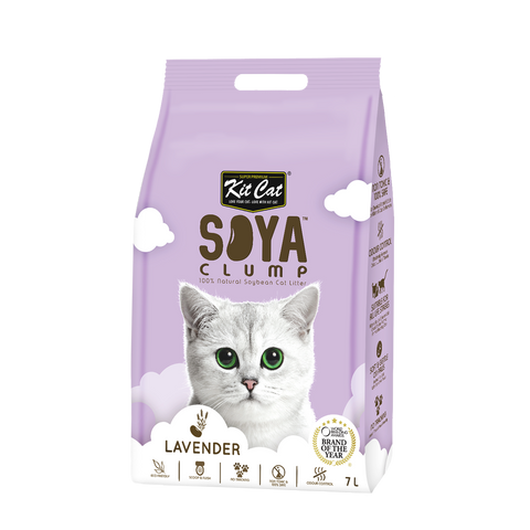 Kit Cat Soya Clump Cat Litter (7L) - Lavender