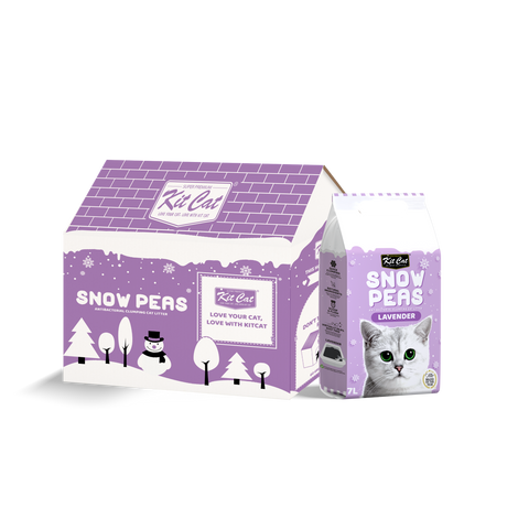 Kit Cat Snow Peas Cat Litter (7L) - Lavender