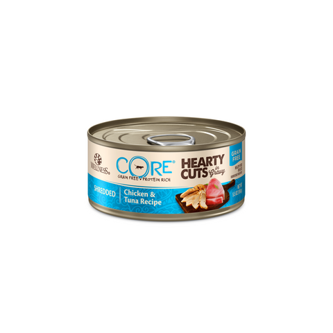 Wellness Core Hearty Cuts in Gravy Grain Free Cat Canned Food - Chicken & Tuna (156g)