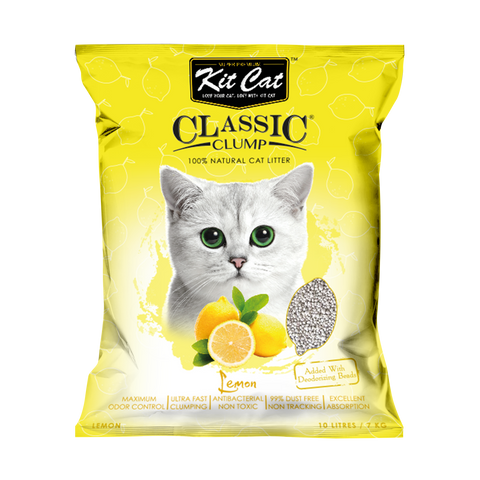 Kit Cat Classic Clump Cat Litter (10L/7kg) - Lemon