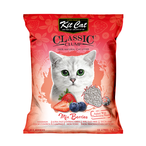 Kit Cat Classic Clump Cat Litter (10L/7kg) - Mixed Berries