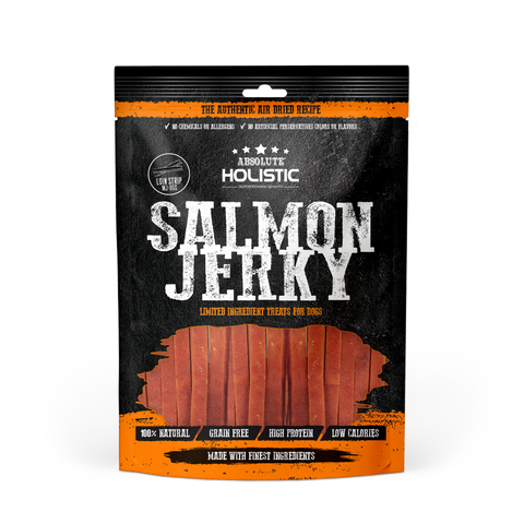 Absolute Holistic Grain-Free Salmon Loin Strip Jerky Dog Treat (100g)