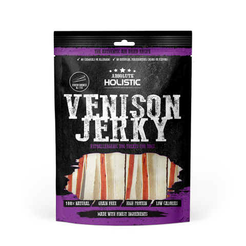 Absolute Holistic Grain-Free Venison & Whitefish Sandwich Jerky Dog Treat (100g)